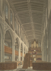 Interior of St Margaret's Church, Westminster, as seen from the East End. 24-b-2